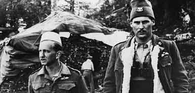 """David Smiley (left) and """"Billy"""" McLean in Albania 1944"""