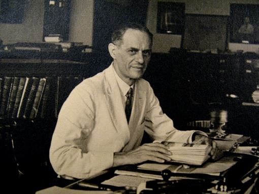 Sir Lewis Leigh Fermor at his desk in the Geological Survey of India, Calcutta.  From the Geological Society's photograph collection.