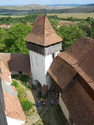 The UNESCO World Heritage fortified church in Viscri