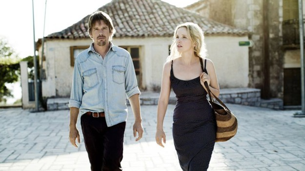 "Ethan Hawke and Julie Delpy in ""Before Midnight"""