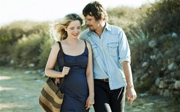 Julie Delpy as Celine and Ethan Hawke as Jesse in Before Midnight