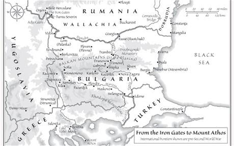 Map accompanying The Broken Road