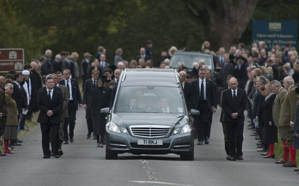 The Duchess of Devonshire funeral at Chatsworth House Photo: EDDIE MULHOLLAND