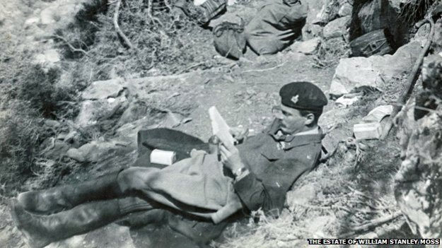 Leigh Fermor at the hideout at Kastamonitza, 20 April 1944