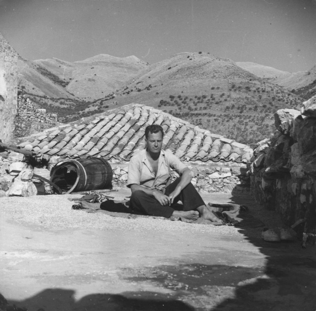 Patrick Leigh Fermor in Phlomochori, a village on the Mani peninsula, southern Peloponnese, Greece (Joan Leigh Fermor/John Murray Collection)
