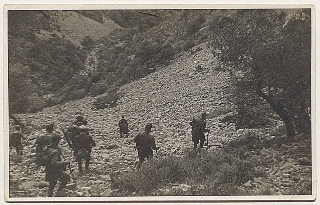 Some of the kidnap gang leaving Kastamonitsa April 1944
