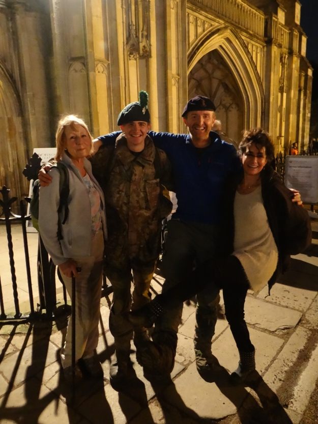 Journey's end with Billy Moss' daughter Isabelle and Jody Cole Jones at Winchester Cathedral