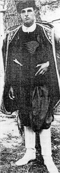 Pendlebury in Cretan dress