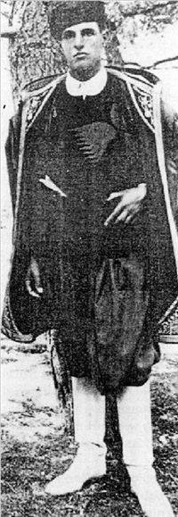 Pendlebury in Cretan dress