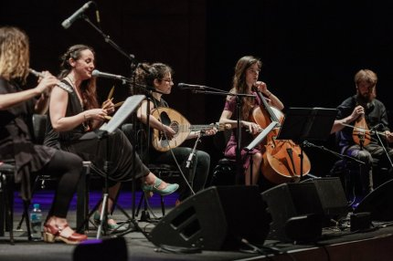 Chrysoula K & Purpura at Festival: Innovative Rebetiko band from Athens offering a classical infusion with flute and cello.