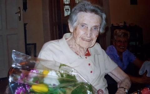 Anna Sándor de Kénos in Budapest on her 90th birthday