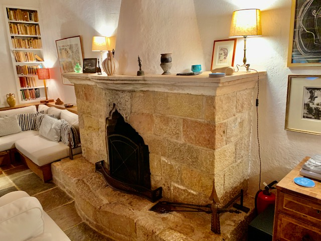 Patrick Leigh Fermor house the living room. Courtesy Micheal Torrens