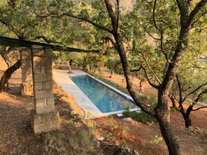Patrick Leigh Fermor house garden pool
