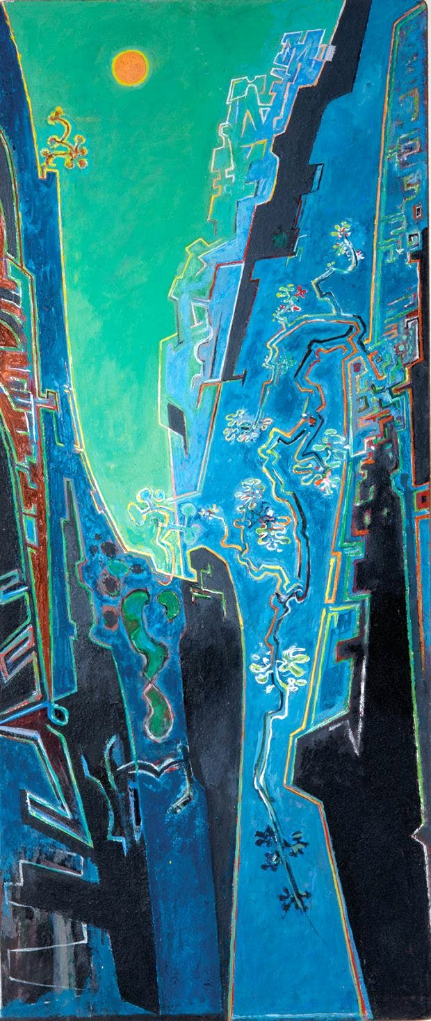 Moonlit Ravine (early 1970s), John Craxton. Private collection © 2018 Craxton Estate/DACS